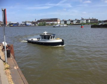 Groeneveldt duwschip tekenwerk bouw certificering schip turnkey Delfzijl.