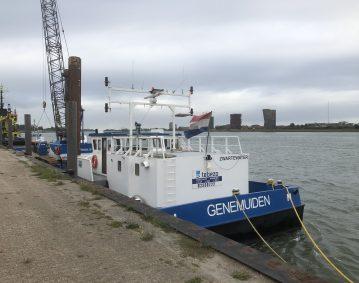 Tebezo Nautische Dienstverlening BV spudpaalsysteem werkschip Zwarte Water