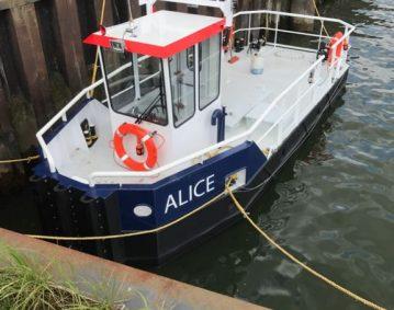Klein duwschip Alice ETK Wasserbau Pusher serie Groeneveldt marine